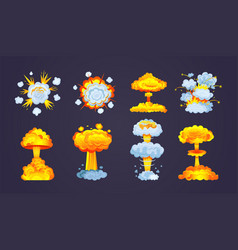 animation for game explosion effect frame vector image