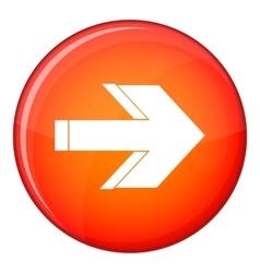 Arrow icon flat style vector