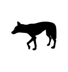 Australian dingo silhouette vector