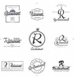 Badges and labels elements for restaurant your vector