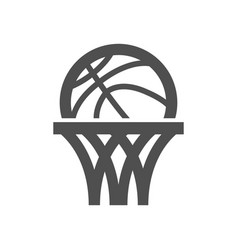 Basketball net icon vector
