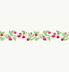 beautiful seamless horizontal pattern vector image