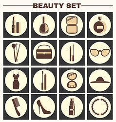 Beauty big icon set vector