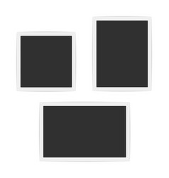 blank photo frames set vector image