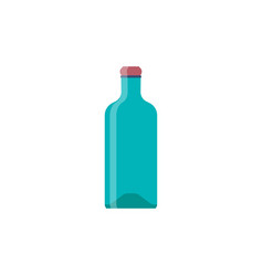 bottle glass whiskey flat design vector image