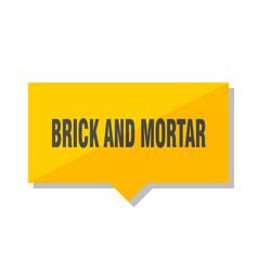 brick and mortar price tag vector image