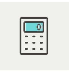 Calculator thin line icon vector