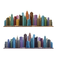 City skyline with skyscrapers Construction vector image