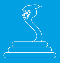 Cobra icon outline style vector