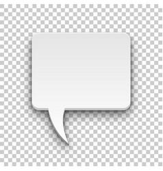 comics bubble volume square transparent background vector image