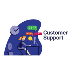 customer support flat vector image