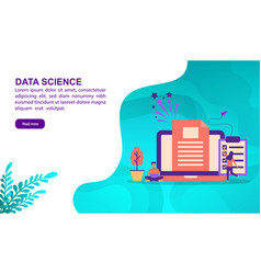 data science concept with character template for vector image