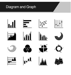 Diagram and graph icons design for presentation vector