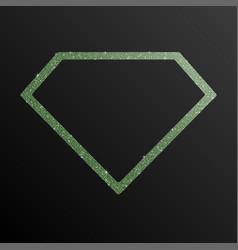 Diamond banner of green sequins banner sequins vector