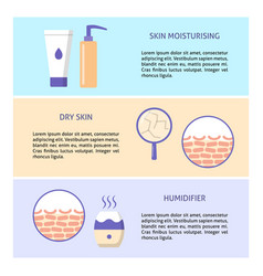dry skin care concept flyer templates in flat vector image