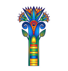 egyptian floral colorful design element set vector image