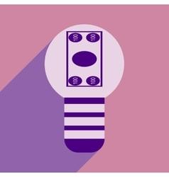 Flat design modern icon Money vector