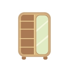 Flat design of cupboard vector image