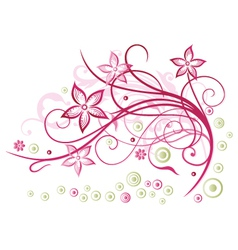 Floral element blossoms vector image