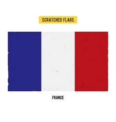 French grunge flag with little scratches on vector image
