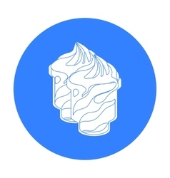 Frozen yogurt with syrup in cups icon in black vector