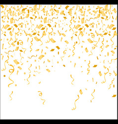 gold confetti isolated on vector image