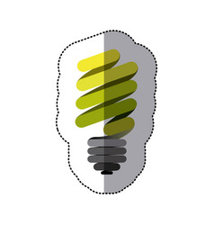 Green sticker eco bulb icon vector