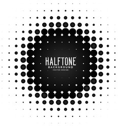 halftone circle frame background vector image