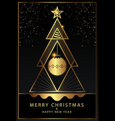 happy new year greeting card design with stylized vector image