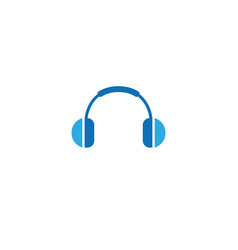 headphones headset logo vector image