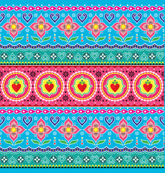 Indian trucks art seamless pattern pakistani vector