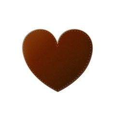 Isolated leather heart design vector