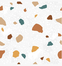 italian terrazzo seamless pattern trendy endless vector image