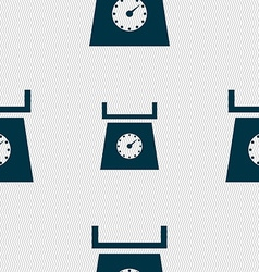 Kitchen scales icon sign Seamless abstract vector