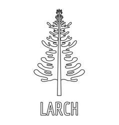 larch icon outline style vector image