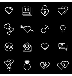 line love icon set vector image