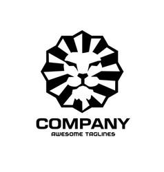 lion head classic vintage style logo design vector image
