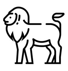 Lion line vector