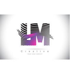 Lm l m zebra texture letter logo design with vector