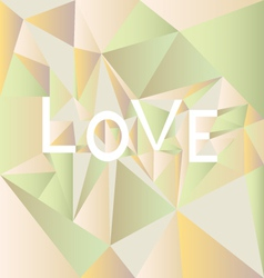 Low poly Love vector