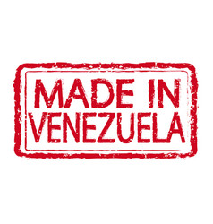 made in venezuela stamp text vector image
