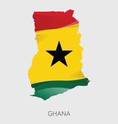 map of ghana vector image