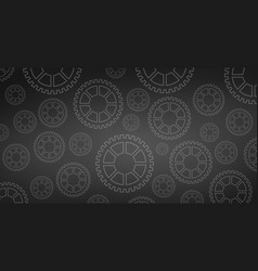 mechanical cogwheel or gear black background vector image