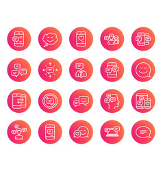 message and communication icons group chat vector image