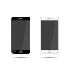 Mobile smartphones mock-up in black and white vector