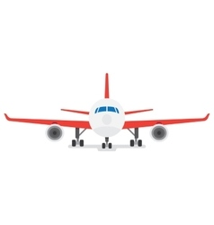 Modern Airplane isolated on white background vector image