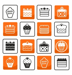 Muffins and cakes vector