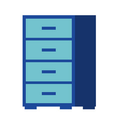 office cabinet furniture organizer icon vector image