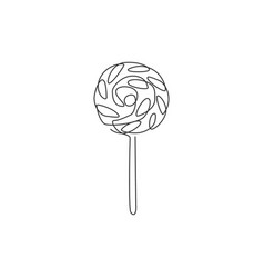 One single line drawing fresh sweet online vector