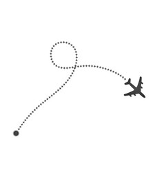 plane and its cross track on white background vector image